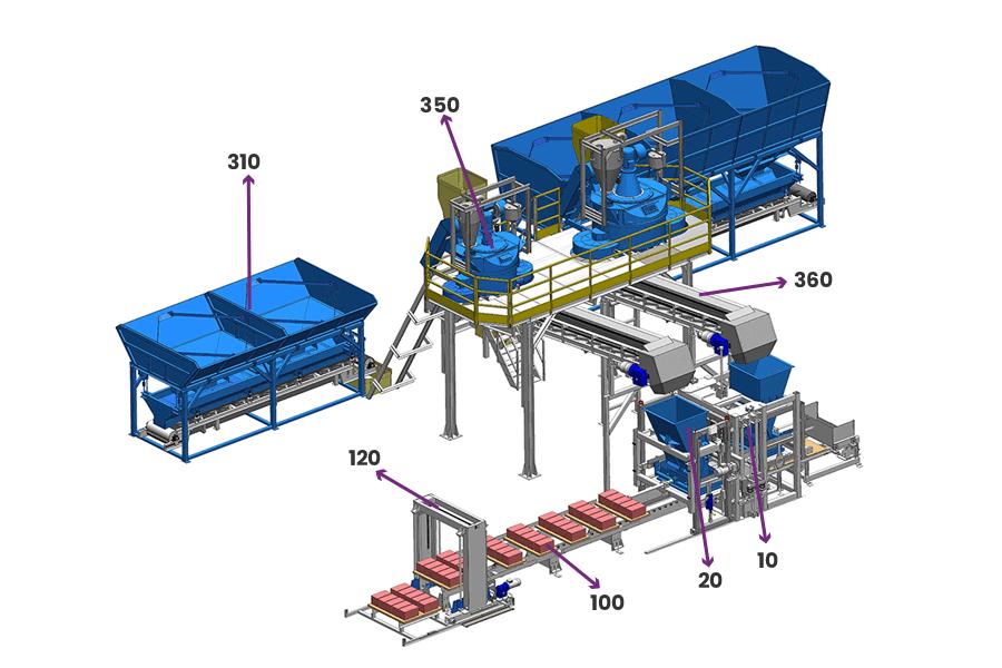 maquina de bloco hidraulica automatica